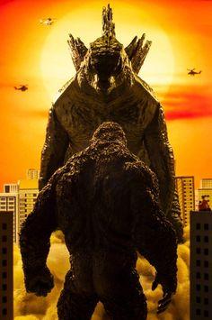 All Godzilla Monsters, Godzilla Comics, Fantasy Creatures, Mythical Creatures, King Kong Vs Godzilla, Godzilla Wallpaper, Skull Island, Monster Art, Christen