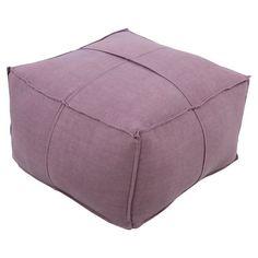Surya Solid Linen Square Pouf - SLPH006-242413