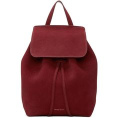 Mansur Gavriel Burgundy Suede Mini Backpack (9.425 ARS) ❤ liked on Polyvore featuring bags, backpacks, backpack, mochila, burgundy, strap backpack, mini bags, day pack backpack, mansur gavriel and red backpack