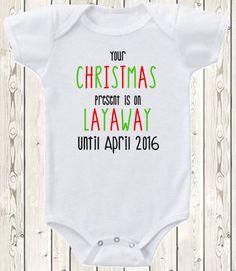 Christmas Pregnancy announcement idea ONESIE ® brand bodysuit or shirt pregnancy reveal for grandma, grandpa, grandparents, aunt, uncle This