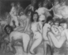 Gerhard Richter, Badende (Bañistas),  1967, 160 cm x 200 cm, Oil on canvas, Catalogue Raisonné: 154. Foto tomada de gerhard-richter.com