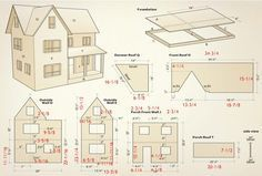 Dollhouse Canadian Woodworking Magazine Blueprints For Dollhouses