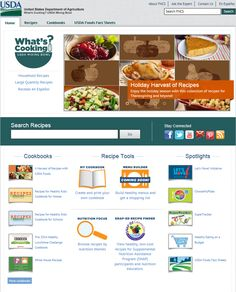 New - What's Cooking? USDA Mixing Bowl! Now find all USDA program recipes in one place. #WhatsCooking #SNAP #MyPlate #Educators #Nutrition #SchoolMeals
