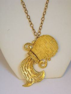 Signed Razza Aquarius Zodiac Necklace
