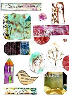 INSTANT DOWNLOAD criative collage sheets printables by SusanaTavares, $6.80
