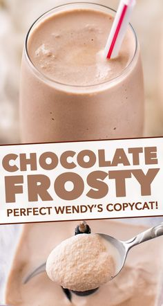 Delicious Wendys Frosty copycat recipe, made with 3 simple ingredients and tastes exactly like the real thing! Delicious Wendys Frosty copycat recipe, made with 3 simple ingredients and tastes exactly like the real thing! Copycat Wendy's Frosty Recipe, Wendys Frosty Recipe, Recipe For Wendy's Frosty, Homemade Wendy's Frosty Recipe, Copycat Recipes, Easy No Bake Desserts, Frozen Desserts, Dessert Recipes, Frozen Drink Recipes