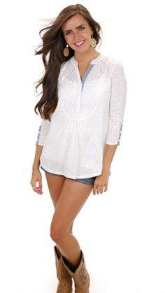 White Back At Ya Top :: NEW ARRIVALS :: The Blue Door Boutique