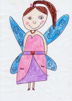 """Dessin d'une petite fille de 7 ans, publié sur le site de la little gallery pour le concours """"Dessine ta fée"""""""