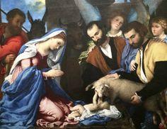Lorenzo Lotto, l'adorazione dei pastori. National Museum in WarsawNational Museum in Warsaw