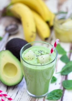 Fresh avocado, tart pineapple, creamy almond milk, and fresh spinach, are just a few of the ingredients in this savory and sweet summer smoothie.
