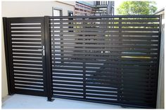 Clik'n'Fit Colorbond steel side fence including gate.