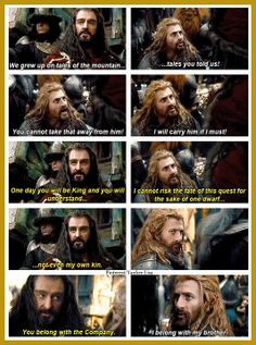 The Desolation of Smaug--I think this is prolly the best part of the whole movie. I love Fili's loyalty to his brother!!