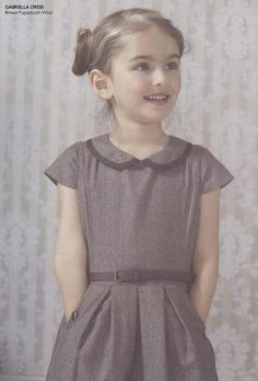 Marie Chantal winter 2012 retro look for a simple tweed children's dress