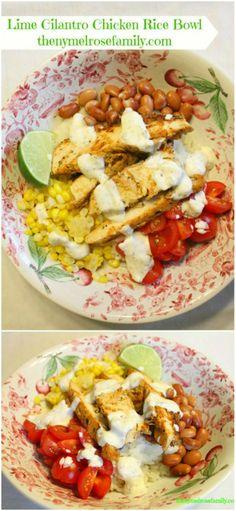 Lime Cilantro Chicken Rice Bowl