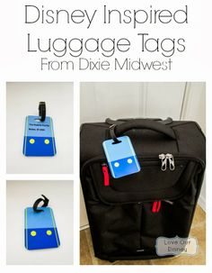 Love Our Disney: Disney Inspired Luggage Tags {Sponsored} Review of Dixie Midwest Personalized Luggage Tags