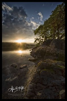 Sunset over Conistone Water, The Lake District National Park, UK, Copyright © 2013 Matherpix.com