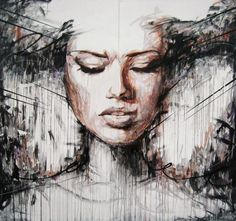 Live paint in blackpool - Abstract Portrait Paintings by Danny O'Connor | Cuded