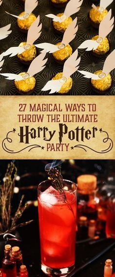 Need Harry Potter food for a birthday party or movie night? These Harry Potter recipes are perfect for wizards of every age! Baby Harry Potter, Harry Potter Motto Party, Harry Potter Fiesta, Harry Potter Thema, Cumpleaños Harry Potter, Harry Potter Wedding, Harry Potter Themed Party, Harry Potter Adult Party, Harry Potter Cupcakes
