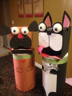 Pug and Boston Terrier valentine boxes