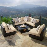 Patio - Portofino Comfort 6-piece Modular Sofa Sectional Set in Espresso | Costco