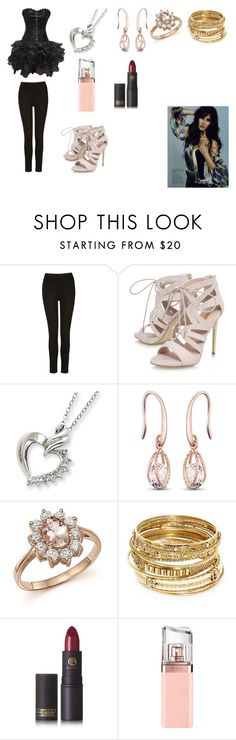 """""""Priya's Dress"""" by madhura-datar on Polyvore featuring Carvela, Bloomingdale's, ABS by Allen Schwartz, Lipstick Queen and HUGO"""