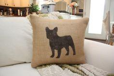 Cute burlap french bulldog pillow https://www.etsy.com/listing/160295663/french-bulldog-burlap-throw-pillow