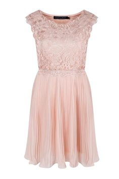 Boutique Elizabeth Corded Lace Pleated Skater Dress | Boohoo