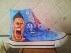 SSC Napoli Handpainted Shoes