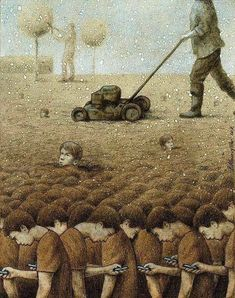 30 Illustrations By Pawel Kuczynski Showing What's Wrong With Modern Society The Polish artist Pawel Kuczynski is an absolute master, combining satire Satire, Illustrator, Satirical Illustrations, Meaningful Pictures, Deep Art, Social Art, Social Media, Political Art, Critique
