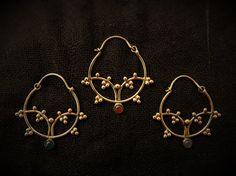Brass Hoop Earrings Simple Earrings Boho Brass by OCcreation