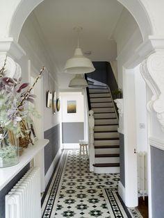 Decoration for Victorian Hallway Victorian Terrace Hallway, Edwardian Hallway, Edwardian House, 1930s Hallway, Hall Tiles, Tiled Hallway, Upstairs Hallway, Victorian House Interiors, Victorian Homes