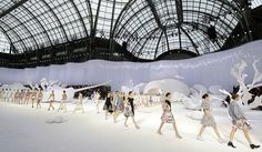 Karl Lagerfeld's spring/summer 2012 show at  the Grand Palais in Paris