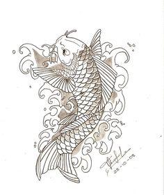 Neo+Traditional+koi+fish+tattoo | Koi Fish - Pez Koi by ~Pl2ooo--tcs on…