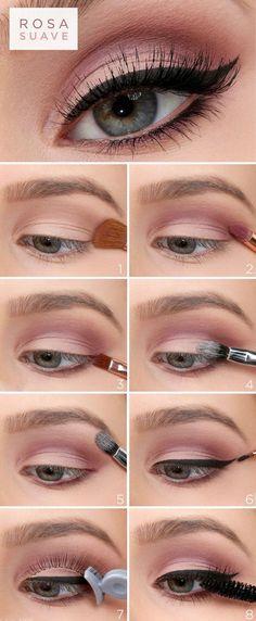 47 trendy makeup tips eyeshadow step by step make up Make Up Tutorial Contouring, Makeup Tutorial Eyeliner, Easy Makeup Tutorial, Eyeshadow Makeup, Eyeliner Ideas, Glitter Eyeshadow, Glitter Makeup, Eyeshadow Brushes, Easy Eyeshadow