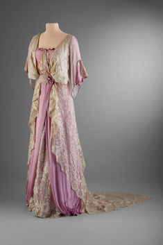 Marjorie Merriweather Post's Afternoon Dress, United States, 1910-14, Silk, lace.