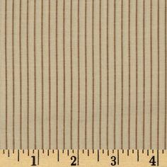 Woven Shirting Stripe Cream
