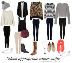 Winter outfits for school!