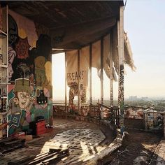 Berlin magic hour at the abandoned listening station Teufelsberg by @sofiatome #mytinyatlas