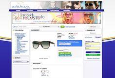 Sito web eCommerce per Occhialimania - ProductPage - Realizzato con OpenCart 1.4 - Anno 2011