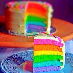 More rainbow cake I made