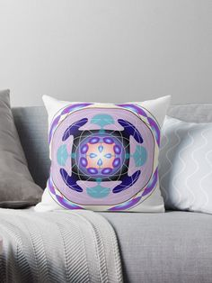 'Maṇḍala Throw Pillow by iopan Framed Prints, Canvas Prints, Art Prints, Floor Pillows, Throw Pillows, Design Products, Art Boards, Chiffon Tops, Duvet Covers