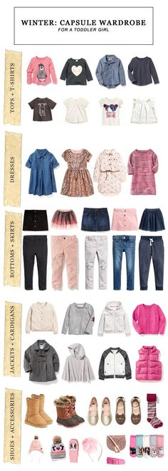 Winter Capsule Wardrobe for a Toddler Girl #fashion #toddler #toddlerstyle #toddlerfashion #capsulewardrobe