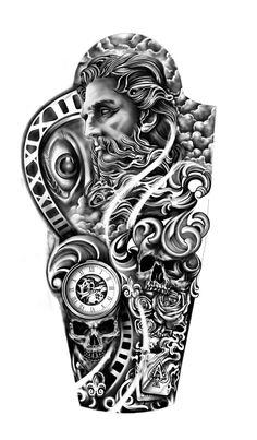Forearm Sleeve Tattoos, Full Sleeve Tattoos, Arm Tattoos For Guys, Forearm Tattoo Men, Hand Tattoos, Man Arm Tattoo, Men Tattoo Sleeves, Cloud Tattoo Sleeve, Tatoos Men