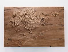 Topographic Model 1924. 1:50000, elevation factor x6, CNC milled teak wood