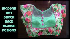 Modern Net Sheer Back Blouse Designs 2017 Netted Blouse Designs, Saree Blouse Neck Designs, Stylish Blouse Design, Choli Designs, Designer Blouse Patterns, Fancy Blouse Designs, Mehndi Designs, Fashion Blouses, Women's Fashion