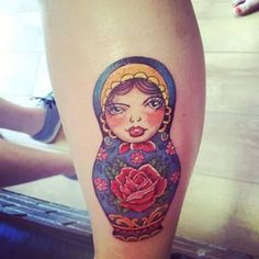 A customised commission to make a doll decoration to look like her tattoo. Phew!!
