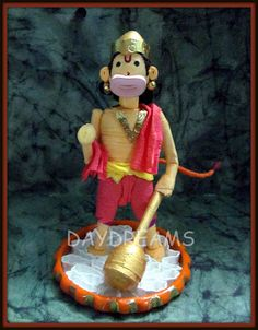 DAYDREAMS: Quilled miniature Hanuman