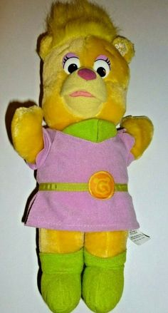 Fisher Price Disney Sunni Gummi Bear Doll Daisy Flower Plush Toy Stuffed Animal #FisherPrice Bear Doll, Ebay Auction, Gummy Bears, Fisher Price, Pet Toys, Walt Disney, Vintage Items, Daisy, Plush