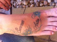 My children's name tattoo