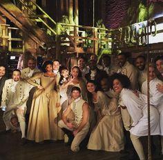 The cast of Hamilton the musical